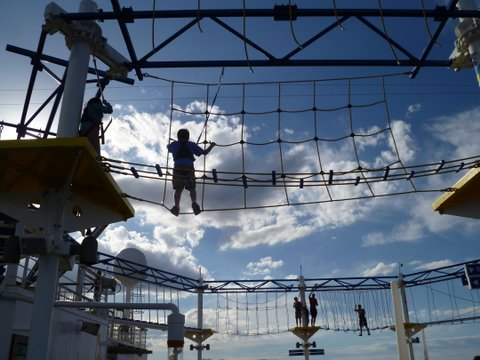 Carnival Breeze sky course